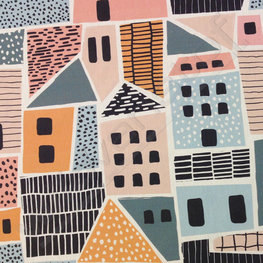 Canvas - Kleurrijke huizen