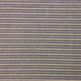 Katoen - Strepen blauw-beige