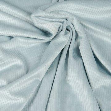 Tricot fluweel - Soepel lichtblauwe rib