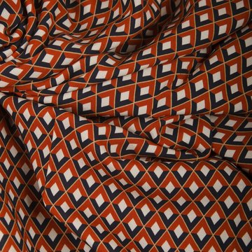 Viscose - Retro roestzwart raster