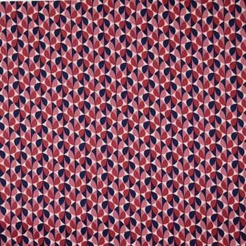 Katoen - Grafisch blad roze paars