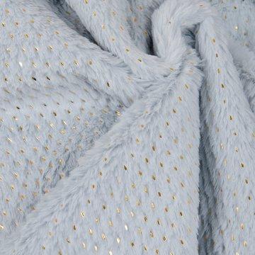 Pels - Ijsblauw met gouden spikkel