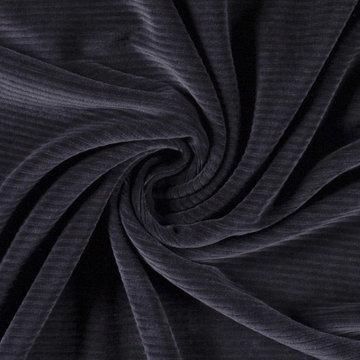 Tricot - Fluweel   donkerblauw
