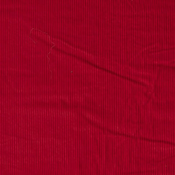 Ribfluweel - Dikke ribbel rood