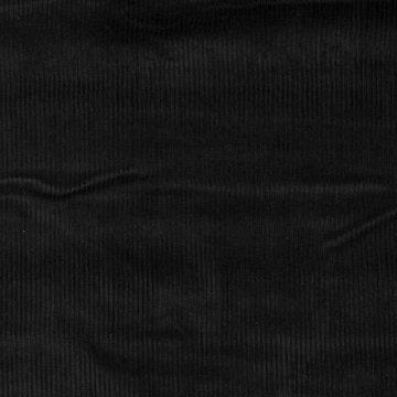 Ribfluweel - Dikke ribbel zwart