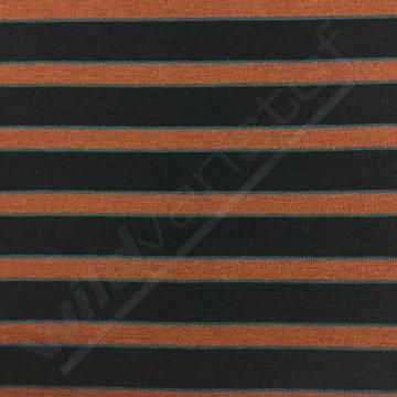 Gebreid - Lijnen blauw roest petrol lmv