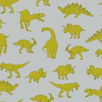 Tricot - Sterke Dino op grijs