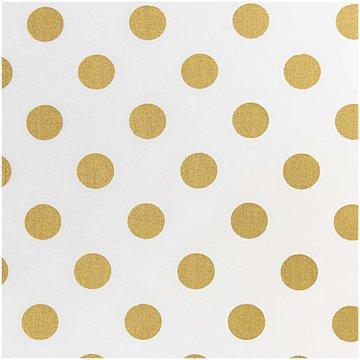 Katoen  - Wit met grote gouden bol