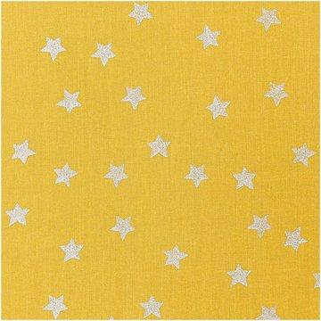 Katoen - Geel met zilveren ster