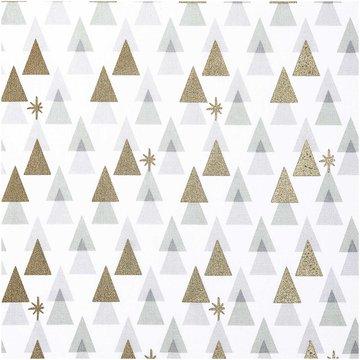 Katoen - Wit met grafische metalic boom