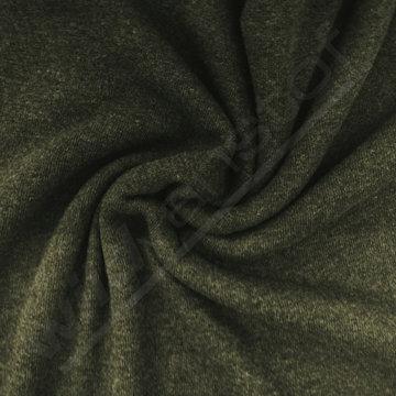 Wol - Gebreide groene- beige double face