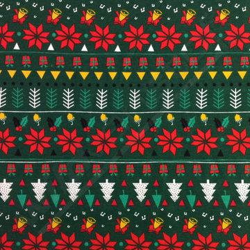 Tricot - Kerstversiering op groen