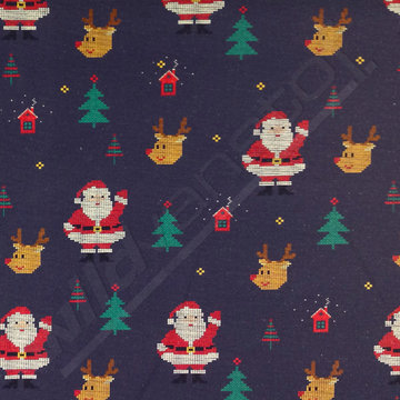Lichte sweater - Kerstman in de nacht