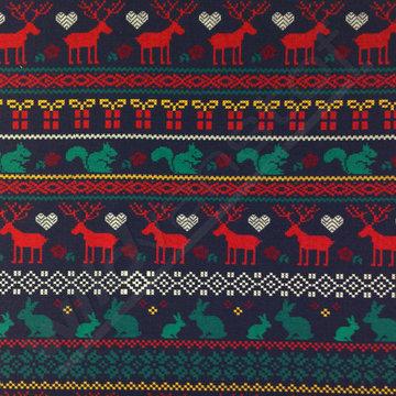 Lichte sweater - Kerstdieren in de nacht