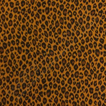 Katoen - Luipaardprintje op oker