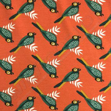 Tricot - Retro vogel op oranje