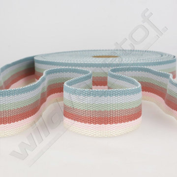 Tassenband 40mm - Strepen multicolor