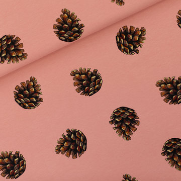 French terry - Playtime Pine cones