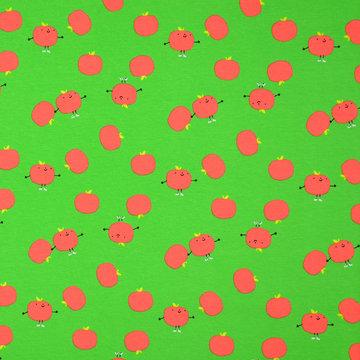 Tricot - Groen met tomaten
