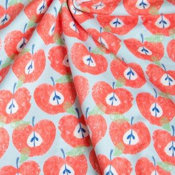 Tricot - Blauw met opengesneden appeltje