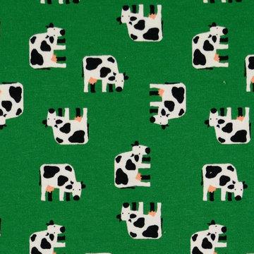 Tricot - Groen met koeien