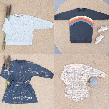 Wisj - Teddy sweater, jurk & kruippakje