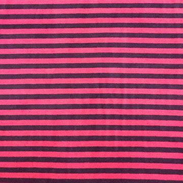 Nicky velours - Roze met paarse streep