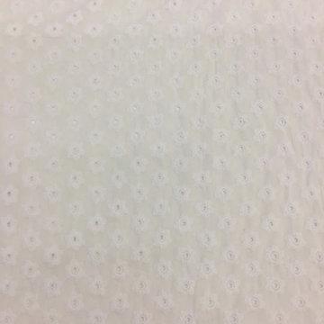 Broderie - wit met romantische bloem 001
