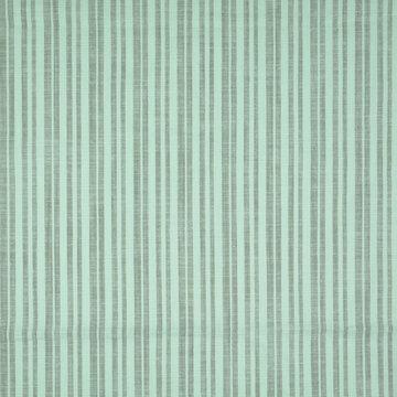 Katoen - Munt en grijsgroene streep
