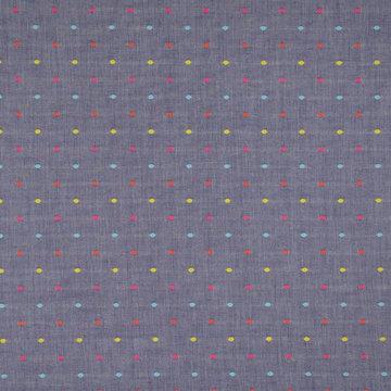 Katoen - Plumetis jeans met meerkleurige dot