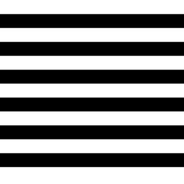 Katoen - Brede strepen zwart wit