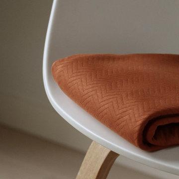 Organic chevron Quilt - Rust