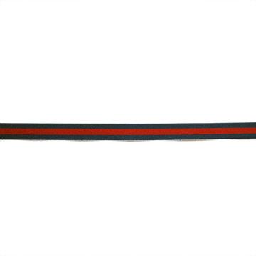 Sierlint  15 mm - Donkerblauw met bordeau lijn