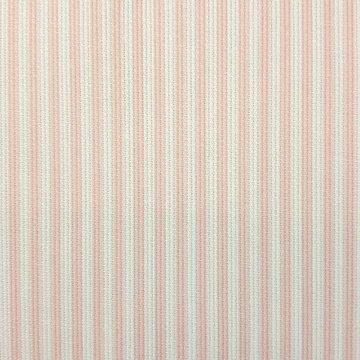 Katoen ottoman - Strepen roze-wit