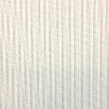 Katoen ottoman - Strepen blauw-wit