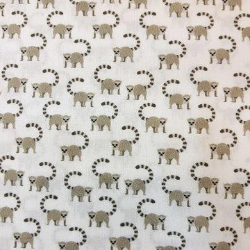 Katoen - Klein maki aapje op wit