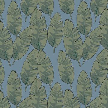 Tricot - Banana leaf blue