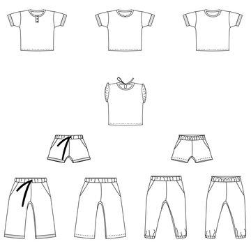 Bel'Etoile - Nio & Nia short, shirt en broek