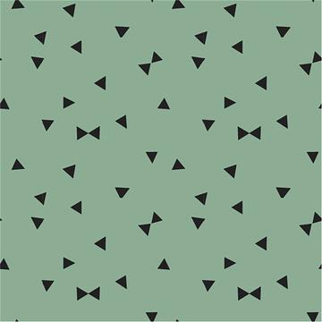 Tricot - Driehoeken op grijsgroen