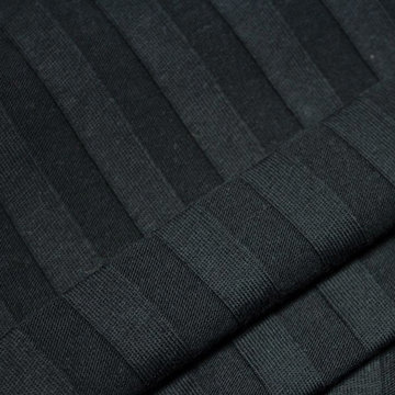 Tricot reliëf streep - Zwart
