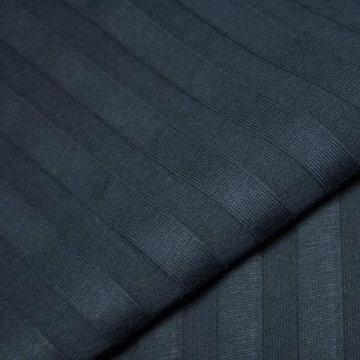 Tricot reliëf streep - Marineblauw