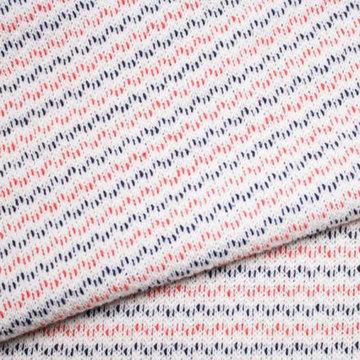 Lichte sweater - Oranje en marine strepen op ecru