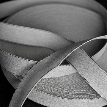 Tassenband - Grijs gemeleerd met zijstikking