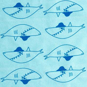 French terry - Grote gevaarlijke haai