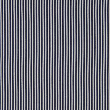 Katoen - Extrafijn donkerblauwe witte streep