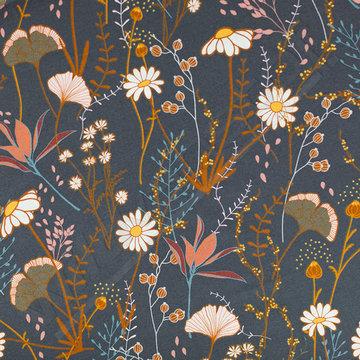 Gabardine - Playtime Flower field