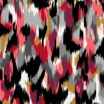 Satijn - Camouflage zwart en roze
