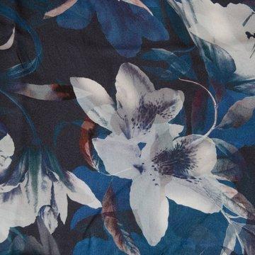 Viscose - Lica bloem op blauwe achtergrond