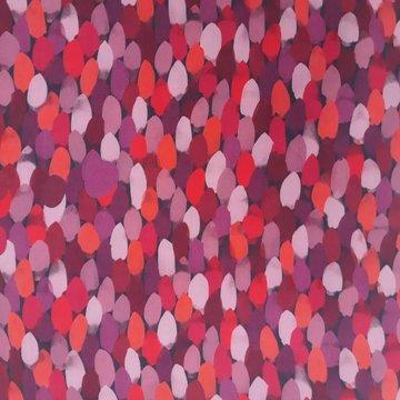 Viscose - Rood roze regelmatige vlekjes