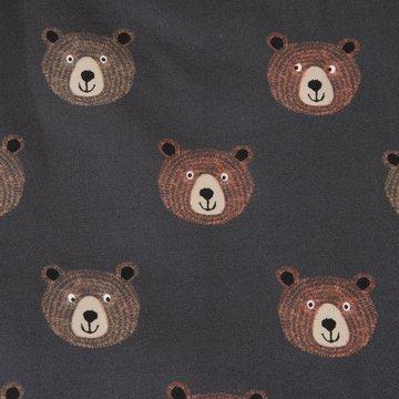 Lichte sweater - Bruin berenhoofd op grijs